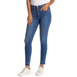 Madewell | High Rise Button Front Skinny Jeans